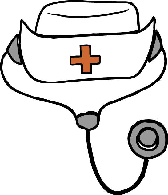 clipart freeuse Nurse Hat Drawing at GetDrawings