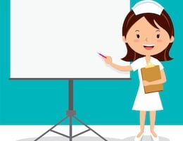 clip royalty free download Nurse teaching patient clipart. Portal