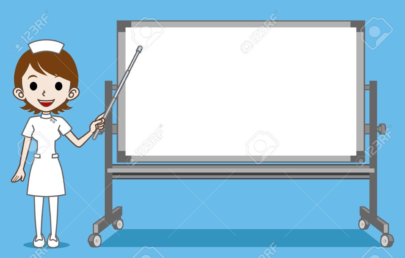 graphic free stock Nurse teaching patient clipart.