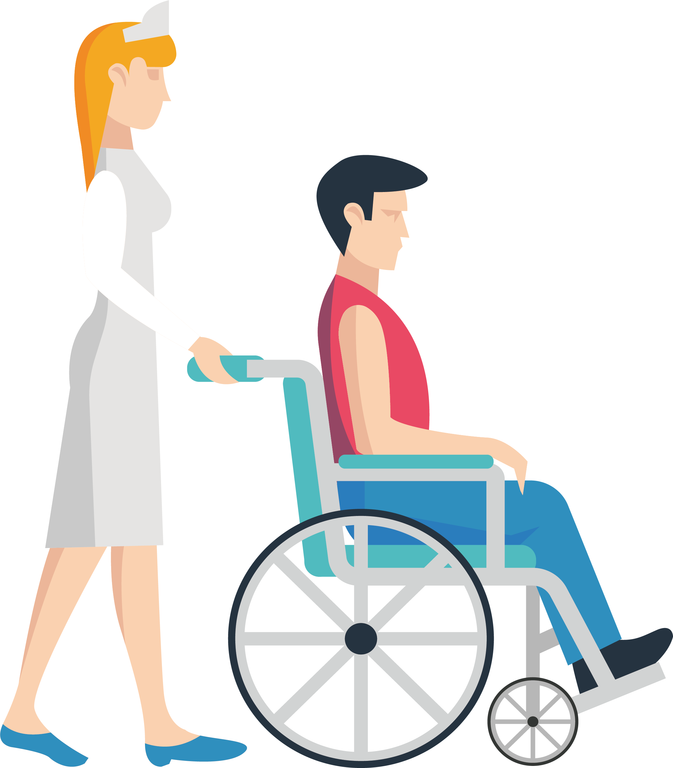 royalty free library Nursing Wheelchair Clip art