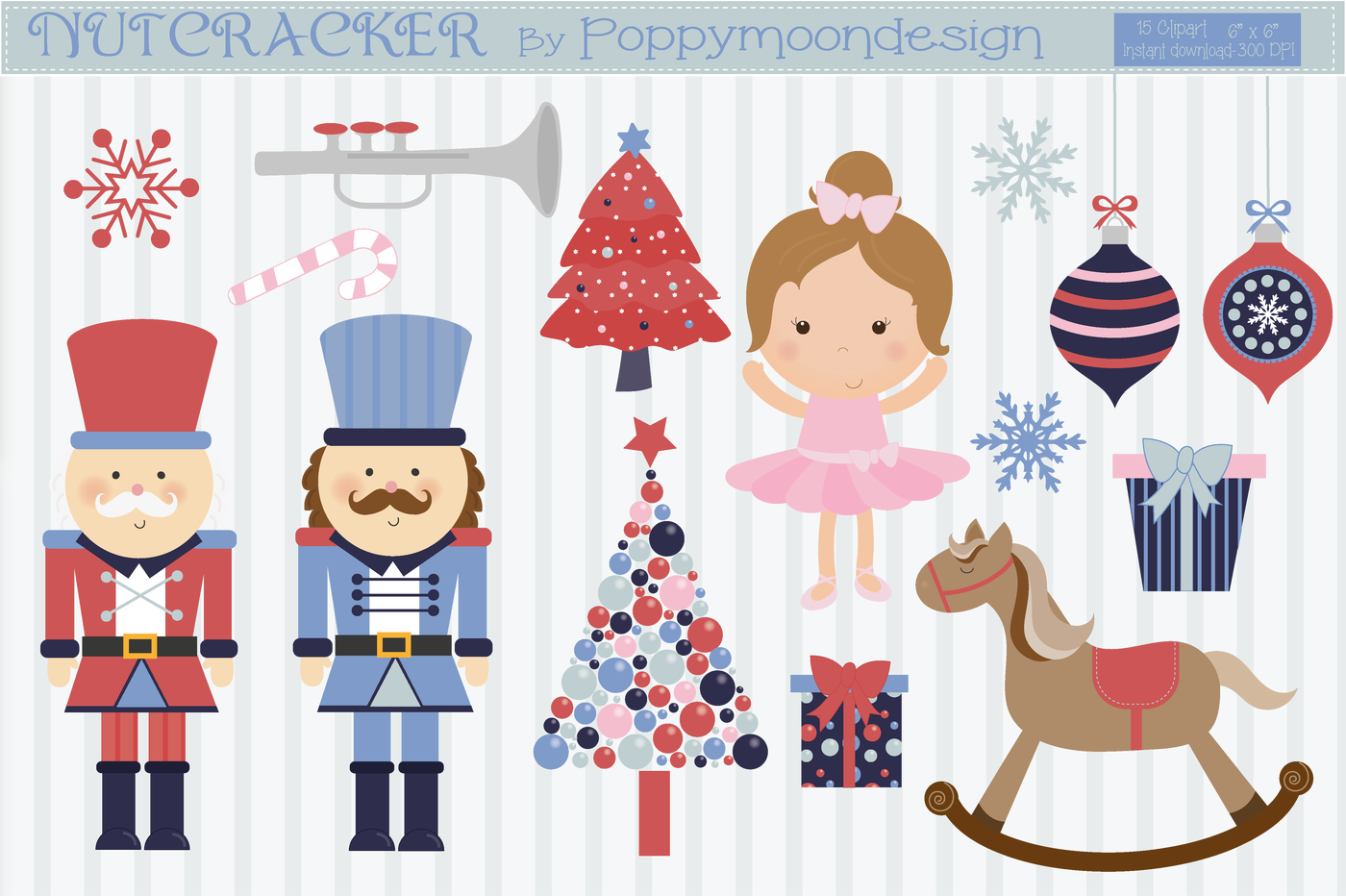 image transparent stock Nutcracker clipart. By poppymoon design thehungryjpeg