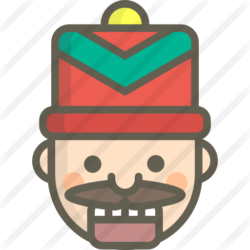 jpg library download Nutcracker face clipart. Free christmas icons