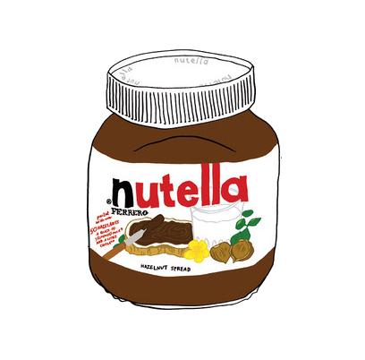 clip transparent Nutella Jar