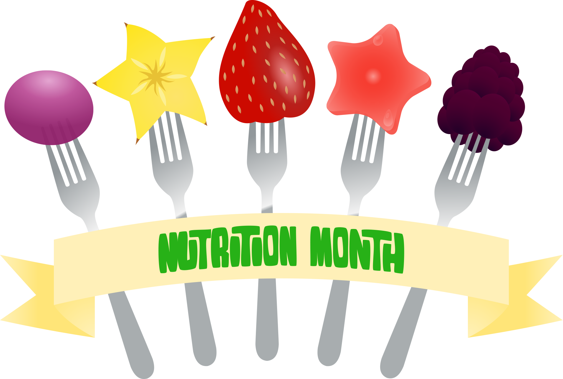 svg library Nutrition clipart. View month fork banner