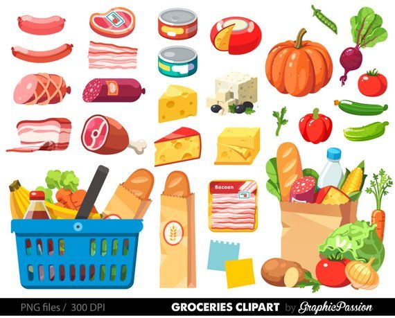 clip transparent download Grocery shopping food . Supermarket clipart frozen dinner.