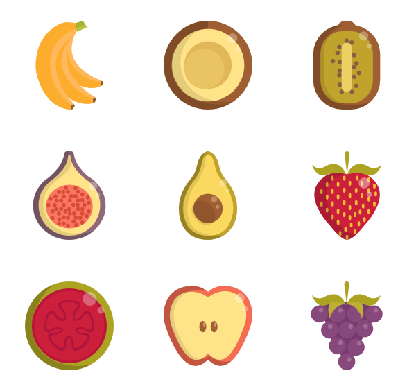 freeuse stock Healthy food Icons