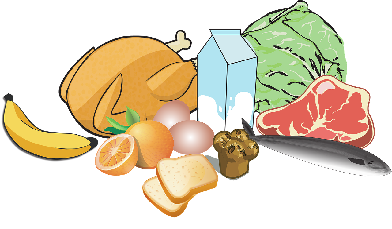 picture royalty free library nutrition clipart healty food #81563534