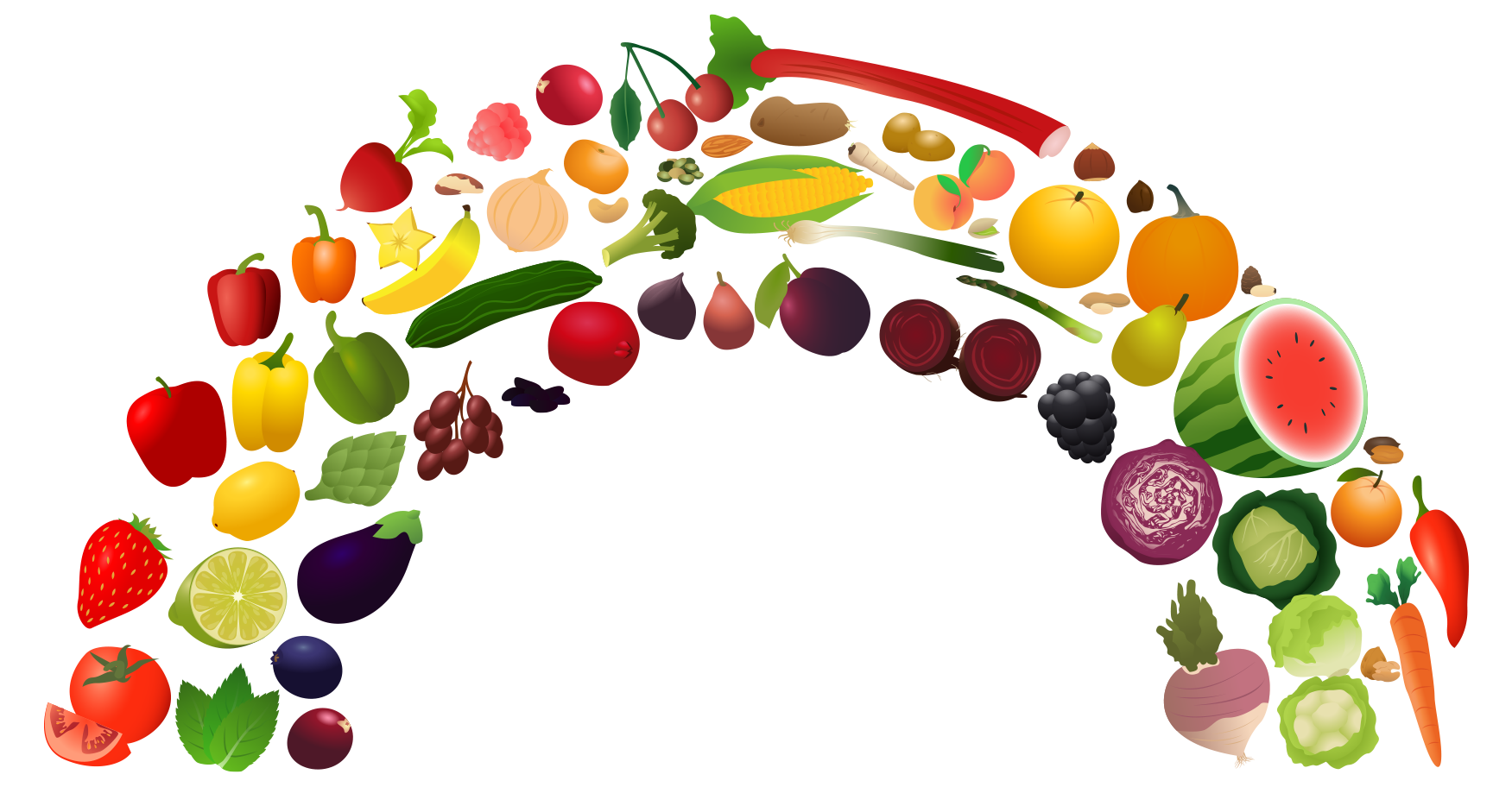 freeuse download Nutrition clipart heathy food. View rainbow png free.