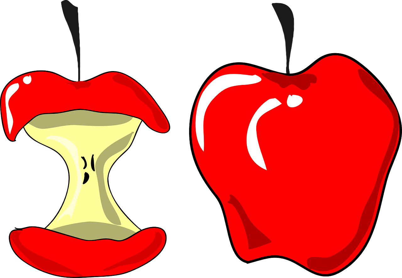 clipart library stock Nutrition eating imontpelier health. Vector apples bitten