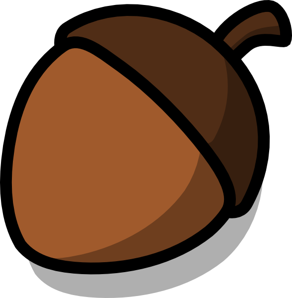 vector free Nut black and white. Clipart acorn