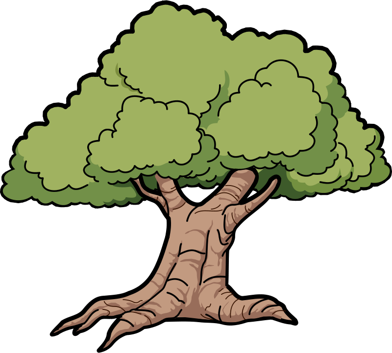 svg free library Tree clip art bay. Oak clipart