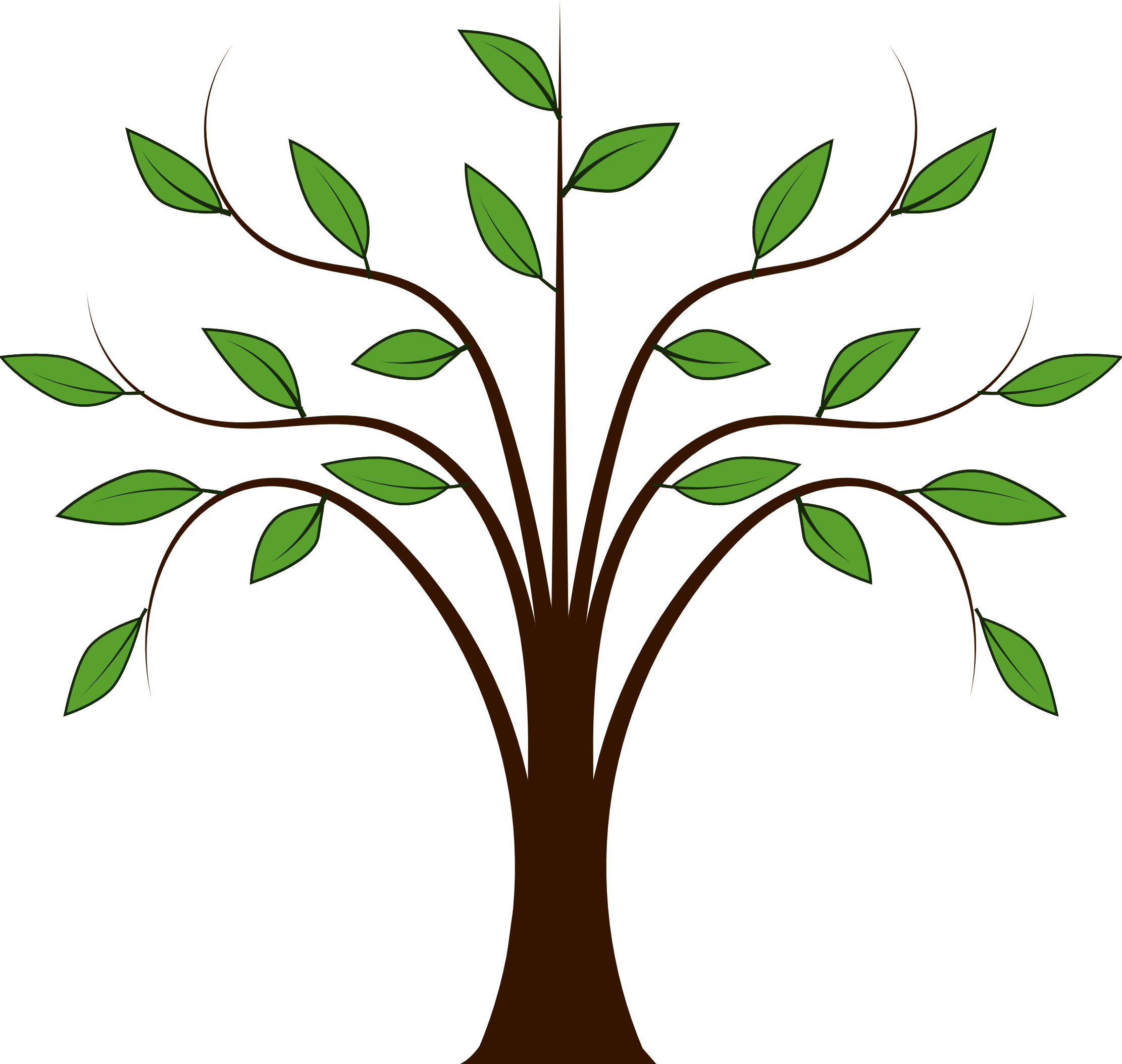download Oak clipart deciduous tree. Clip art silhouette at.