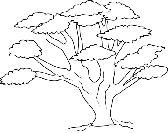 graphic black and white download Clipart Mango Tree Black And White