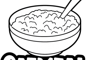 clipart royalty free Oatmeal clipart. Oat black and white