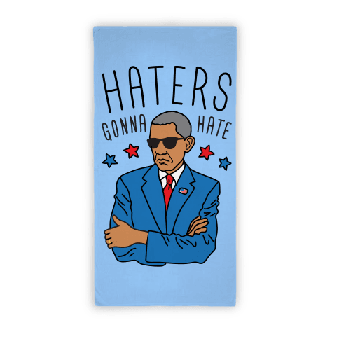 banner stock Haters gonna hate towel. Obama vector patriotic