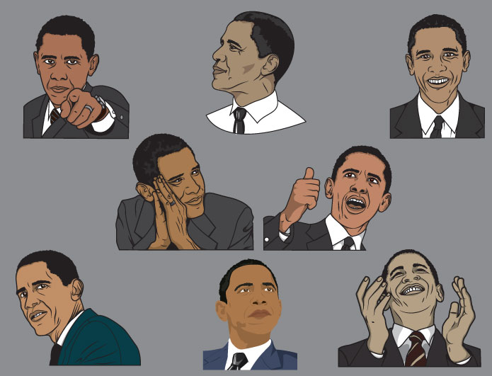 picture transparent library Obama vector patriotic. Pack