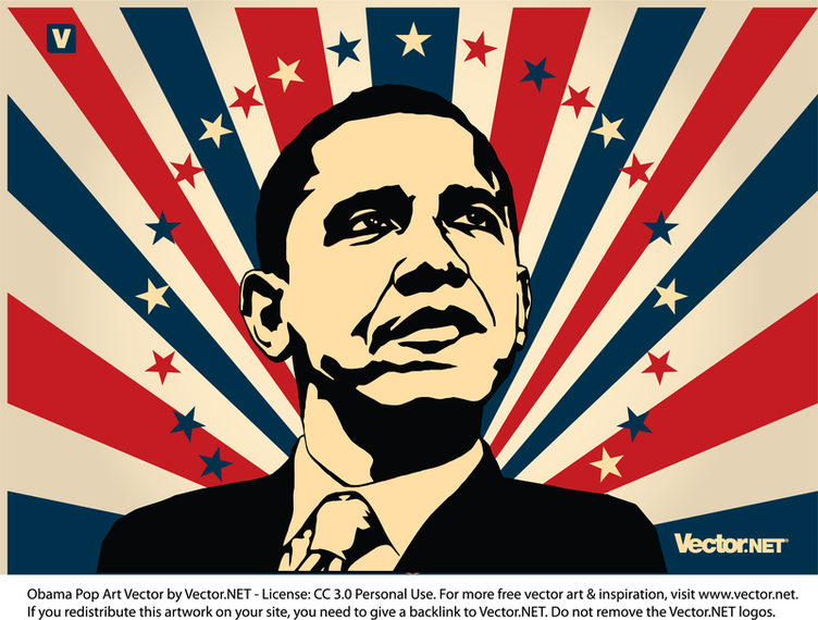 graphic library Illustration download . Obama vector patriotic