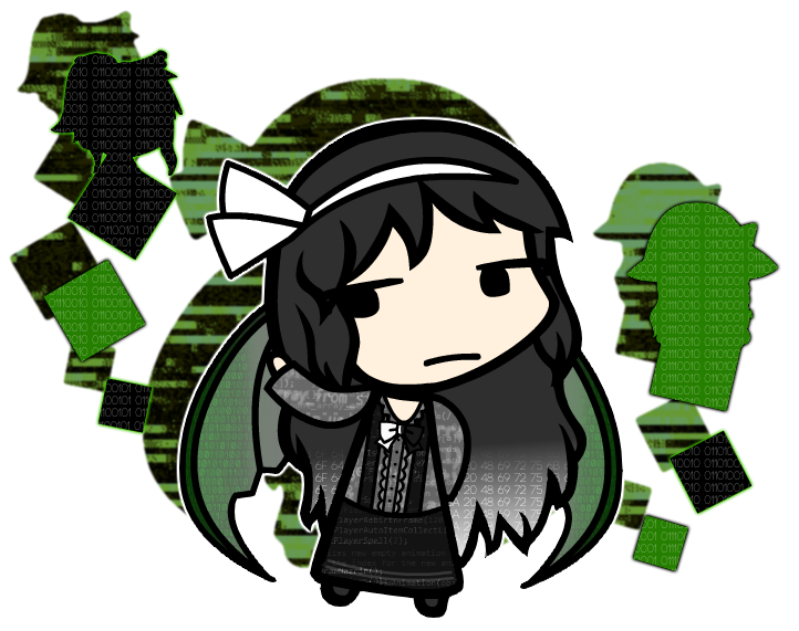 vector freeuse library Touhou fan character codo. Occo clip centre