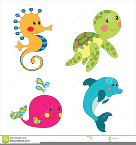 banner black and white Cartoon animals free images. Ocean animal clipart