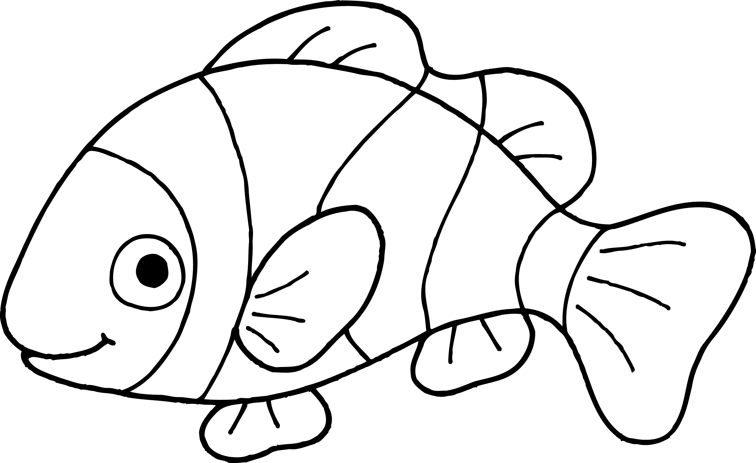 clip free library clown fish clipart black and white #58306175
