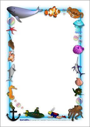 free download Ocean border clipart. Pin em marineaquarium