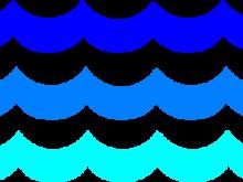 banner free Png clip art waves. Ocean clipart.