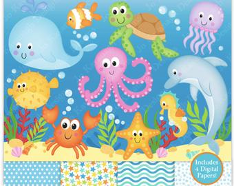 clipart free download Sea etsy . Ocean clipart.