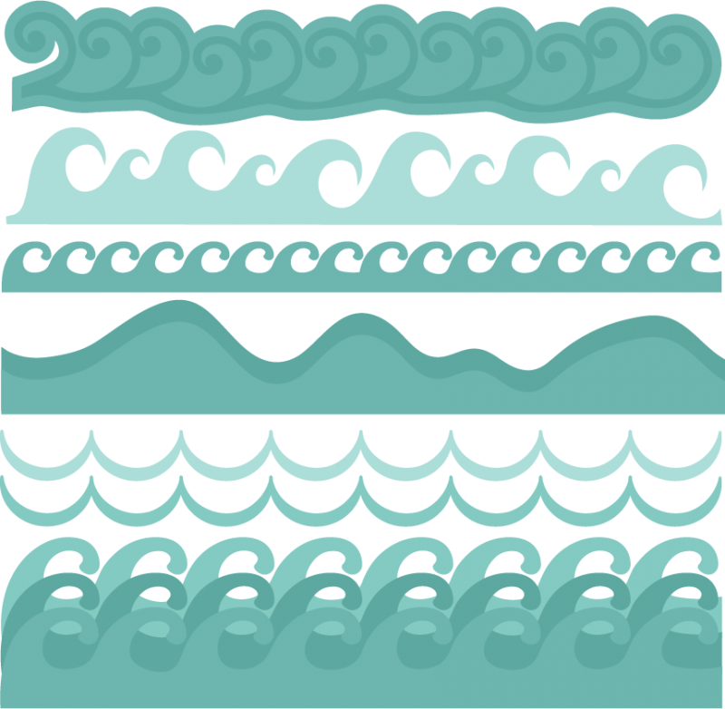 jpg freeuse Wave borders svg cut. Vector dolphin pesut