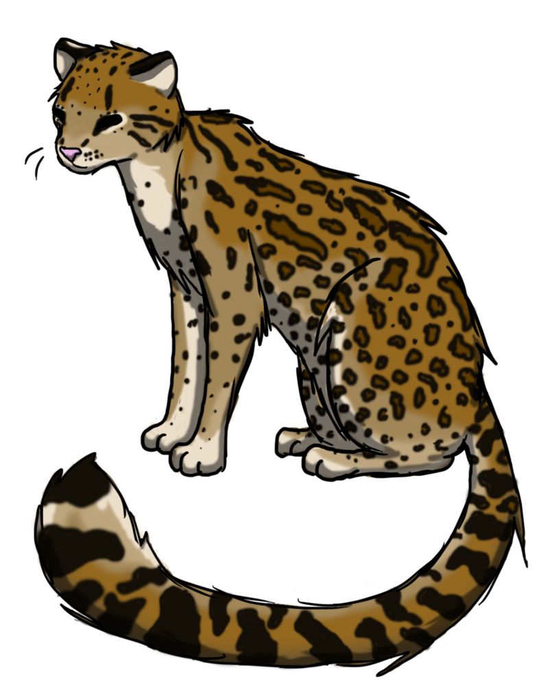 picture royalty free library Realistic Ocelot by xLoveandLightningx on DeviantArt