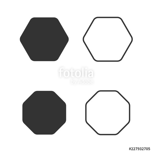 vector free Octagon vector. Icon of geometry octagonal