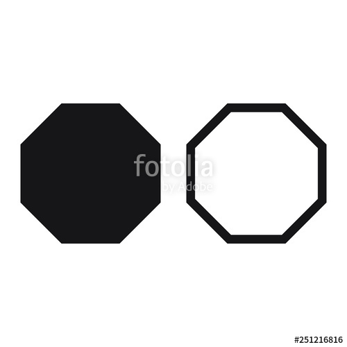 jpg black and white Octagon vector. Icon geometry octagonal eight