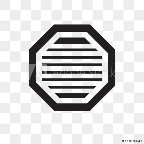 png free library Octagon vector icon isolated on transparent background