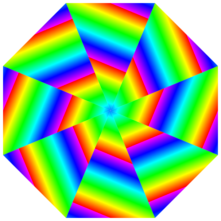 picture black and white download shattered rainbow octagon by