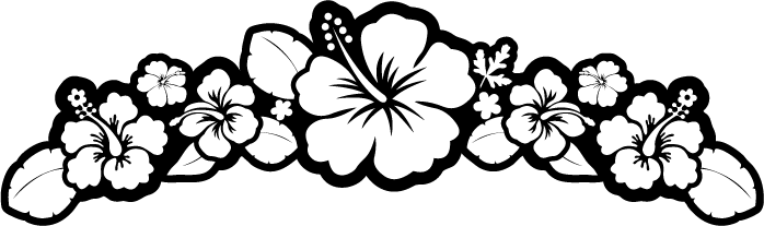 picture transparent library Image flower hibiscus kid. Hawaii clipart black and white