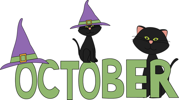 graphic royalty free download October Black Cats Clip Art