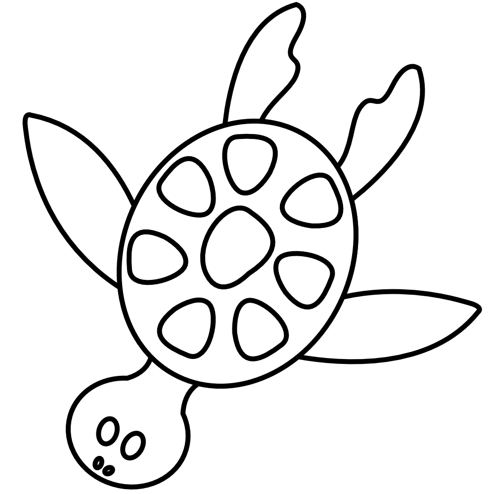 jpg black and white download Ocean Sea Animal Line Clipart