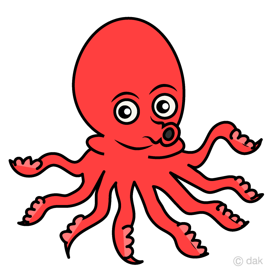 graphic free stock Octopus clipart. Free picture illustoon .