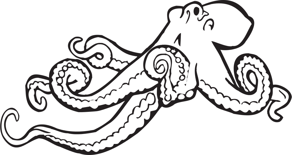 clipart transparent File svg wikimedia commons. Octopus clipart.