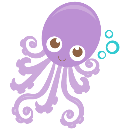 svg free stock Baby octopus clipart