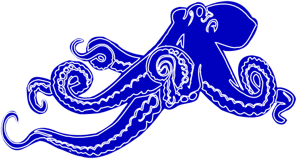 image black and white stock Blue Octopus Clip Art at Clker