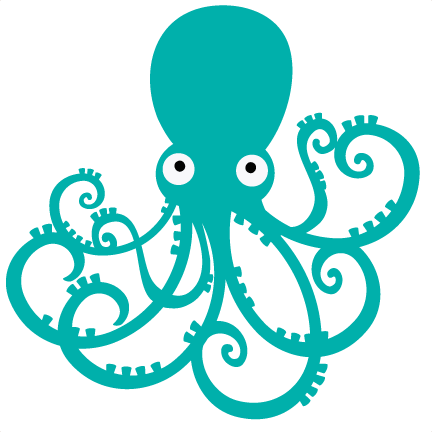 clip transparent download Octopus SVG file for scrapbooking octopus svg cut octopus cutting