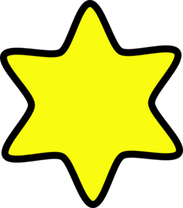 image royalty free download Star yellow clip art. Of david clipart