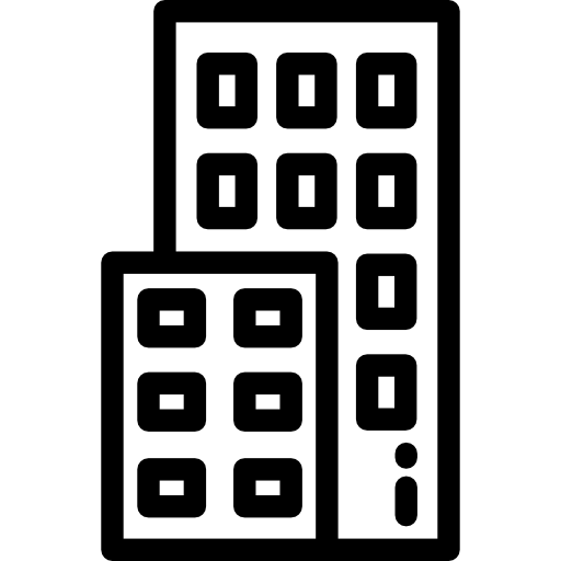 image free Urban architectonic block architecture. Office building clipart black and white