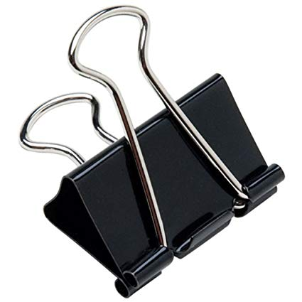graphic library library Paper clips extra large. Black clip office