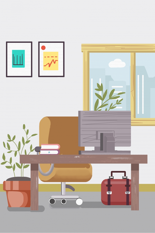 jpg library Office clipart. Cartoon free environment .