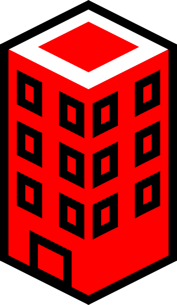 clip transparent download Building red clip art. Office clipart.