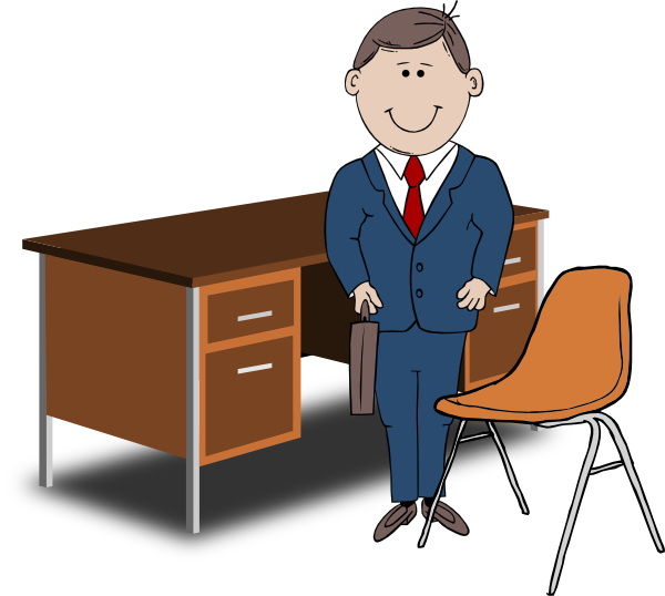 banner library download Manager Between Chair And Desk Clip Art at Clker