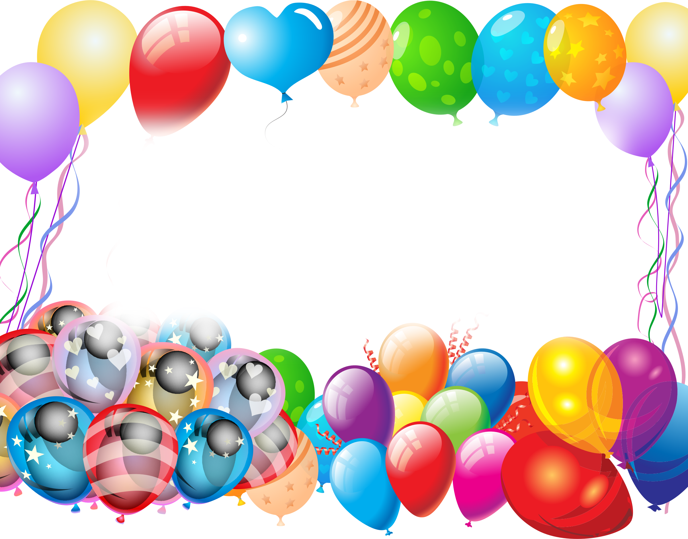 clipart transparent download Office party clipart. Colorful balloons big image