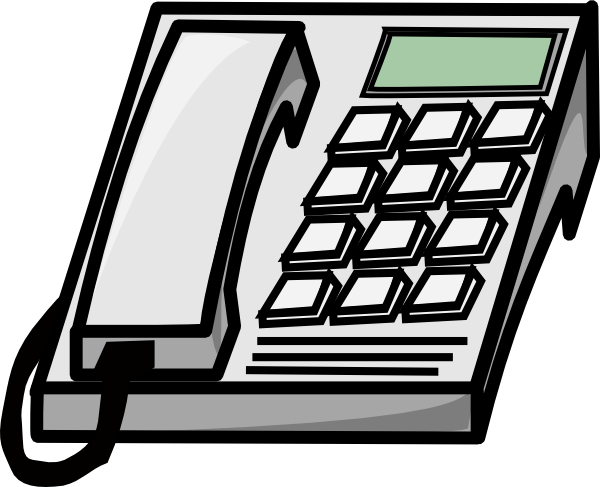 image transparent library Office Telephone Clipart