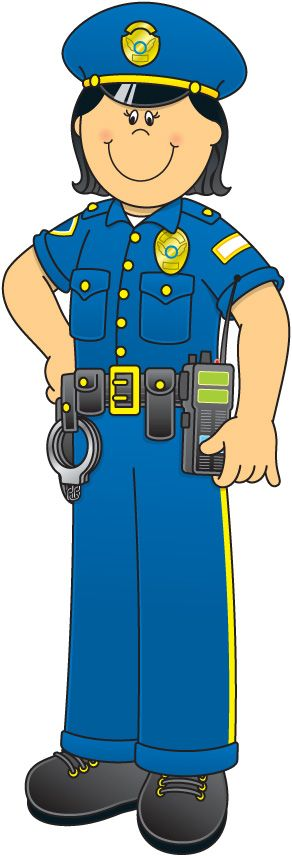 svg royalty free library Officer clipart community worker. Carson dellosa learning themes